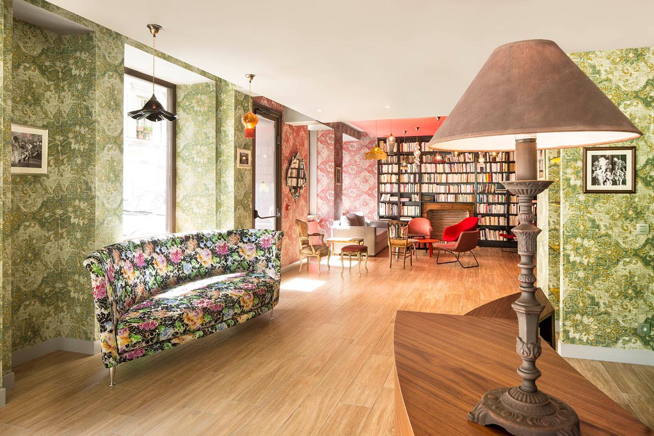 A colorful cabaret inspired hotel in paris design milk for Hotel designer paris
