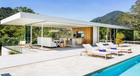 A Modern Hillside House in Larkspur, California