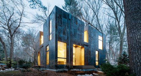 Weathered Steel Home by MERGE Architects