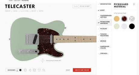 Fender's Mod Shop Custom Guitar Studio Lets You Build Your Own Modern Classic