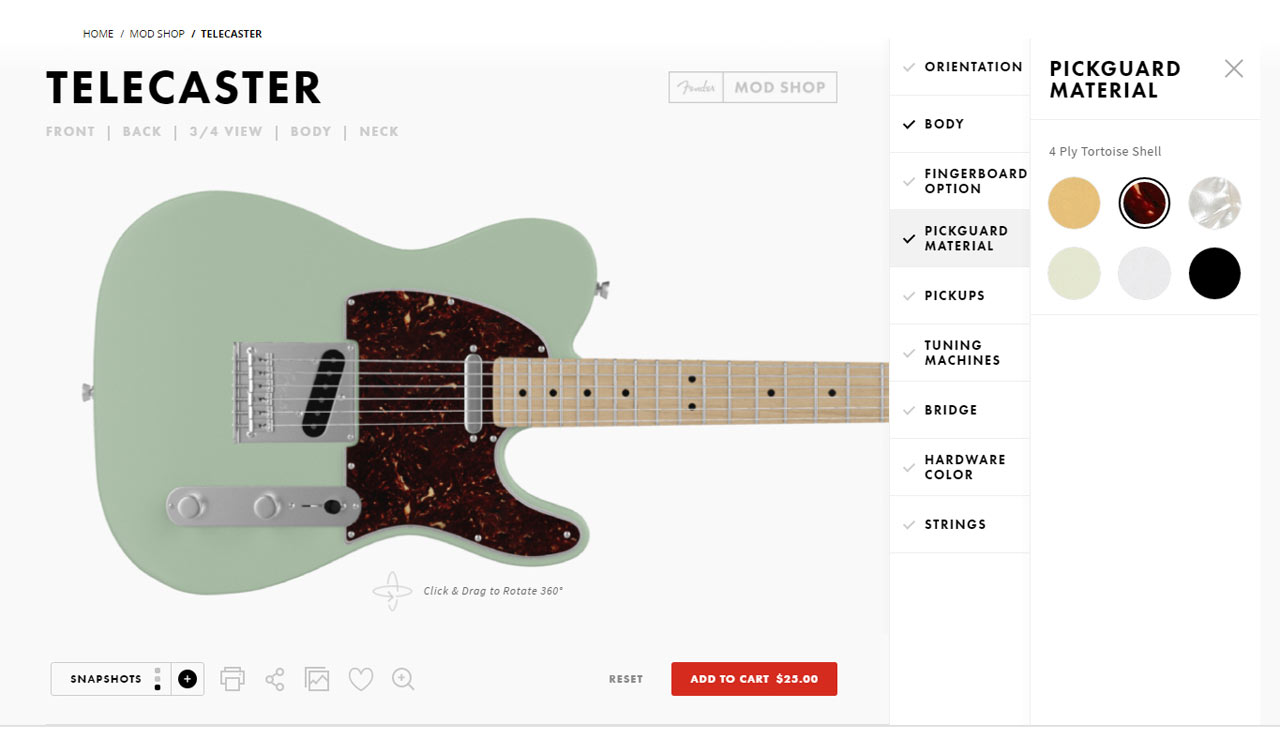 Fender's Mod Shop Custom Guitar Studio Lets You Build Your Own Modern Classic