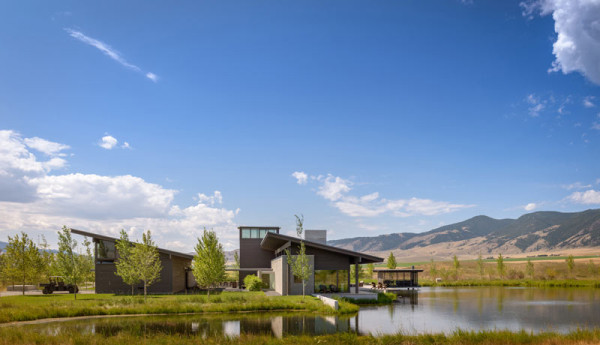 A modern ranch retreat in montana architecture for Montana ranch house