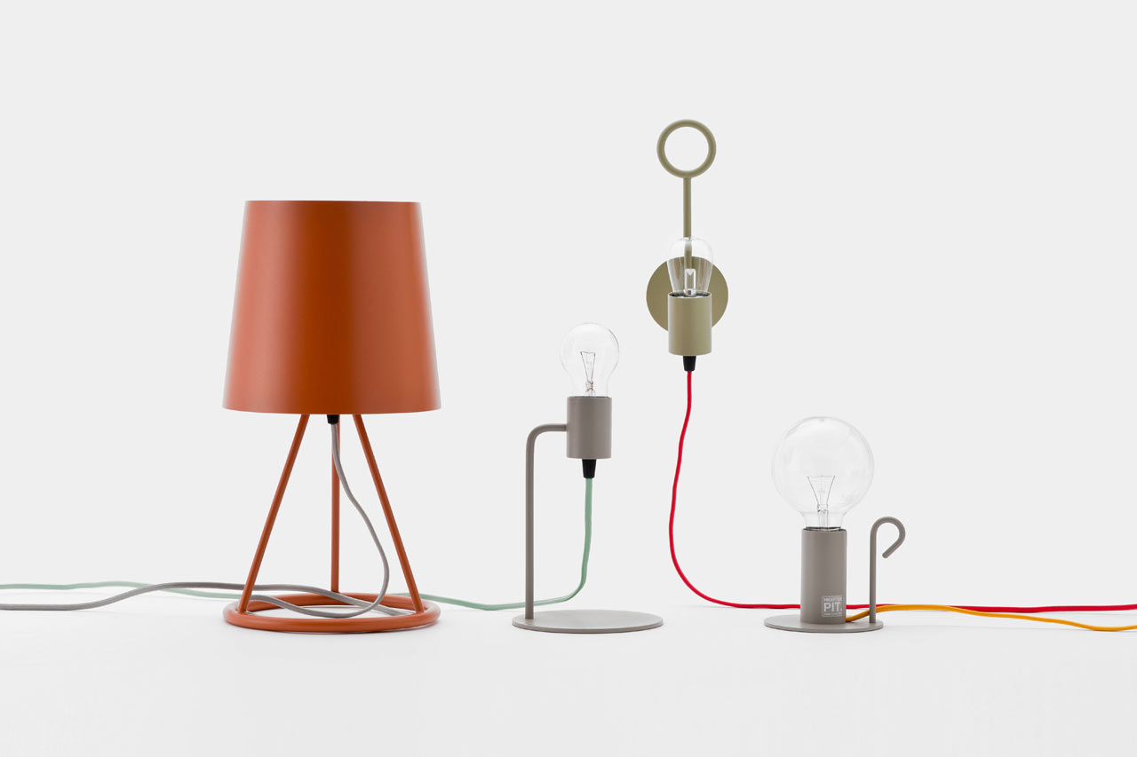 Simple Lamp Designs pit: simple lamps with colorful cords - design milk