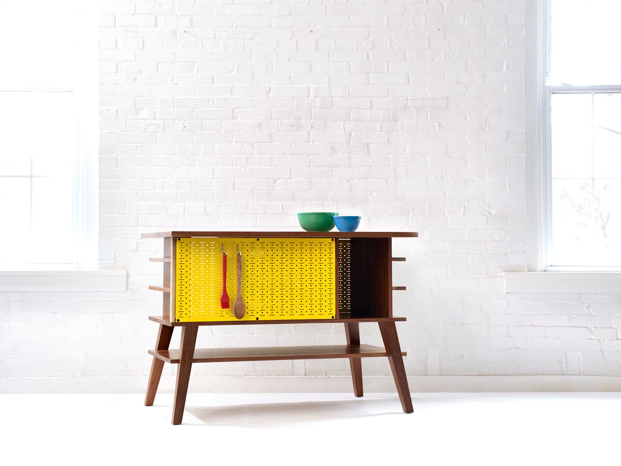 A Mid-Century Inspired Kitchen Island
