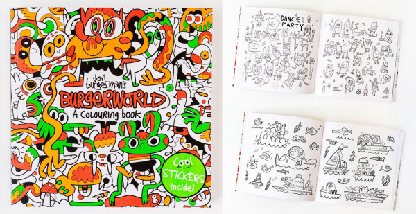 Coloring Book 4 : Get coloring with these cool books design milk