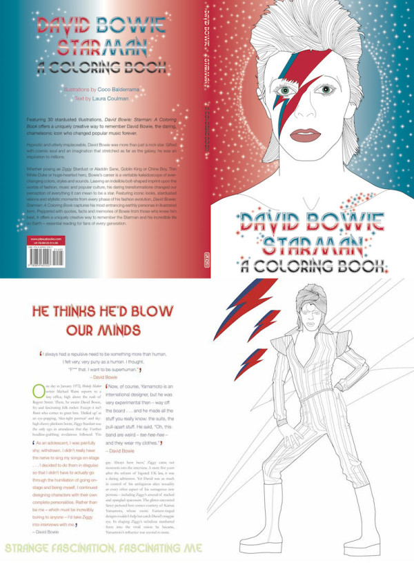 Roundup Coloring Book 5 David Bowie Starman