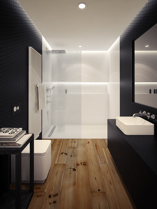 Inspirationen schwarz weises bad design  10 Minimalist Bathrooms of Our Dreams - Design Milk