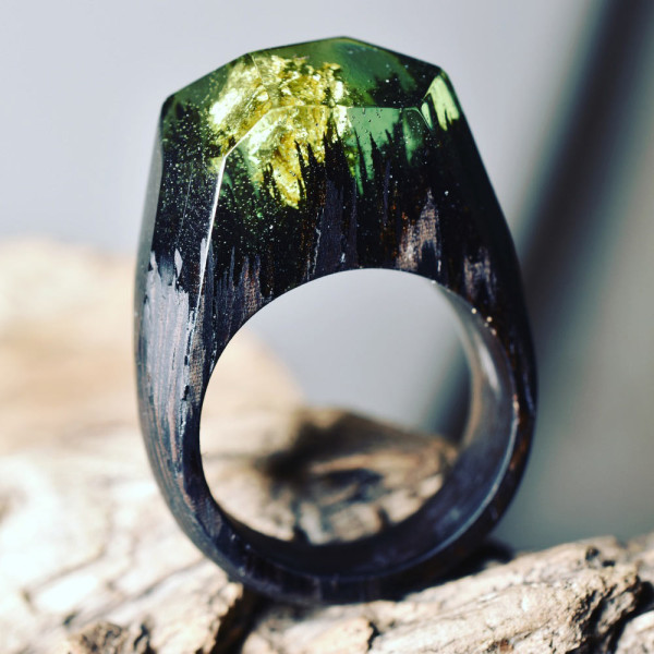 Secret-Wood-Mini-Landscape-Rings-6-green-millettia-laurentii-forest