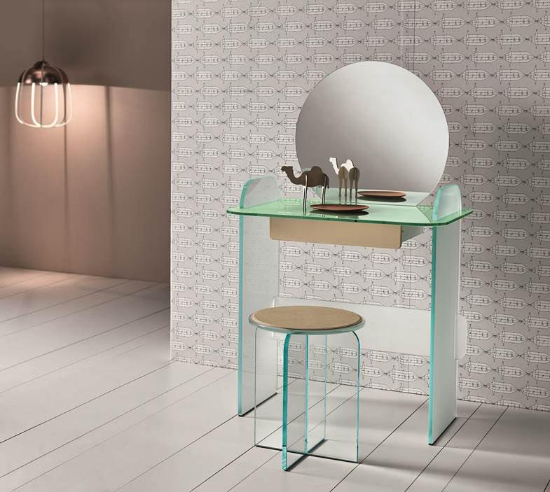 Opalina: Glass Furniture by Cristina Celestino for Tonelli Design
