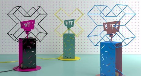 Graphic WTF Lamps by Sergey Lvov