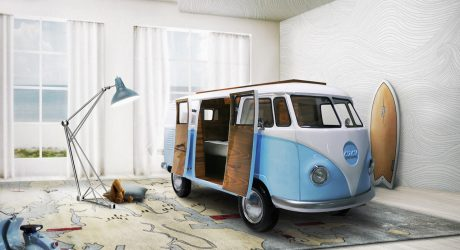 A Limited Edition, VW Bus-Inspired Kids Bed