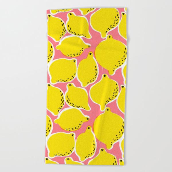 lemons-beach-towel
