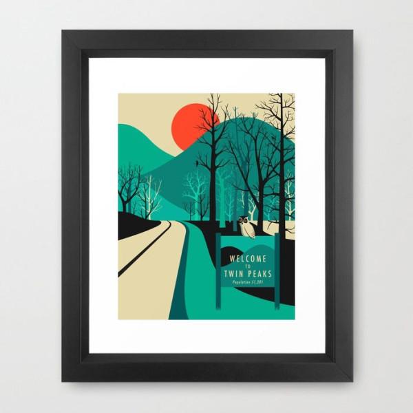 visit-twin-peaks-framed-print