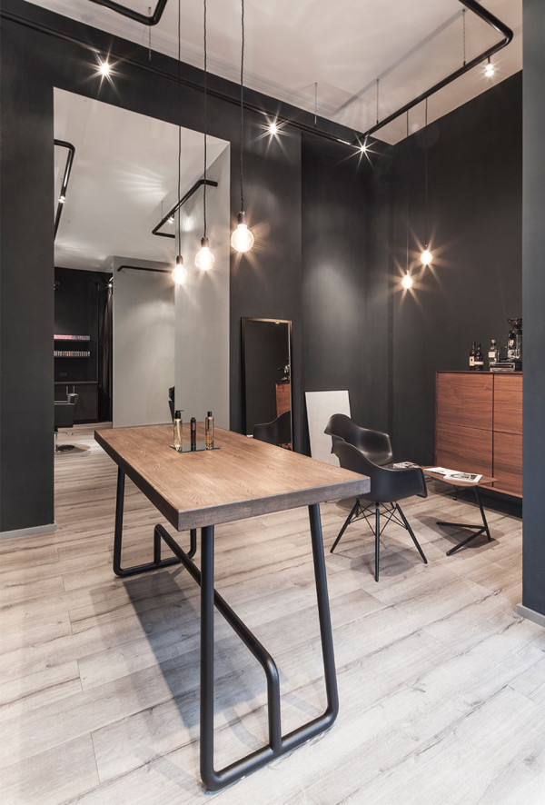 a minimalist hair salon in d sseldorf design milk. Black Bedroom Furniture Sets. Home Design Ideas