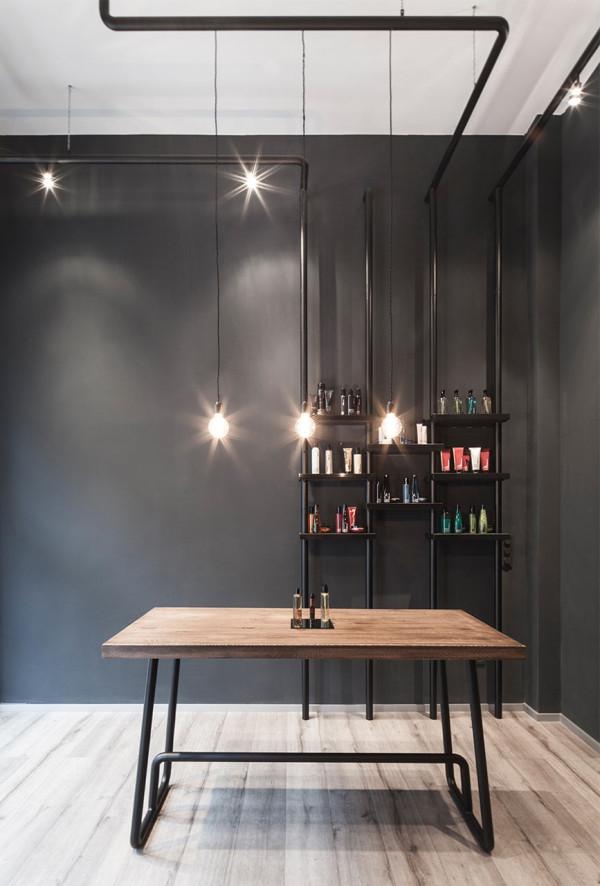 a minimalist hair salon in d sseldorf design milk. Black Bedroom Furniture Sets. Home Design Ideas