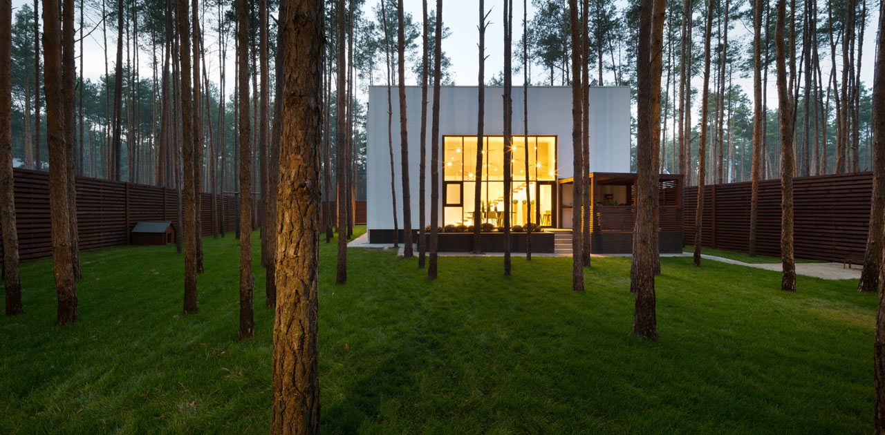 Cube A House Located In A Pine Forest In Kiev Design Milk