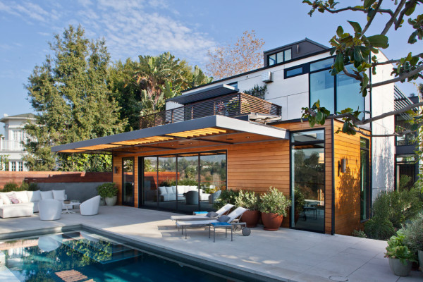 house with a mid century modern italian feel design milk