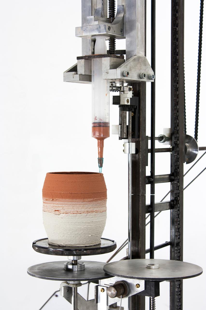 World's First Analog 3D Printer by Daniel de Bruin