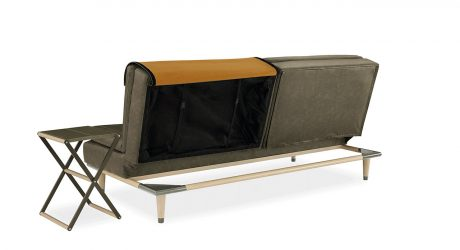 A Convertible Sofa That Hides a Table