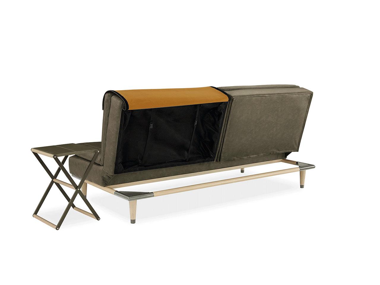 A Convertible Sofa That Hides a Table
