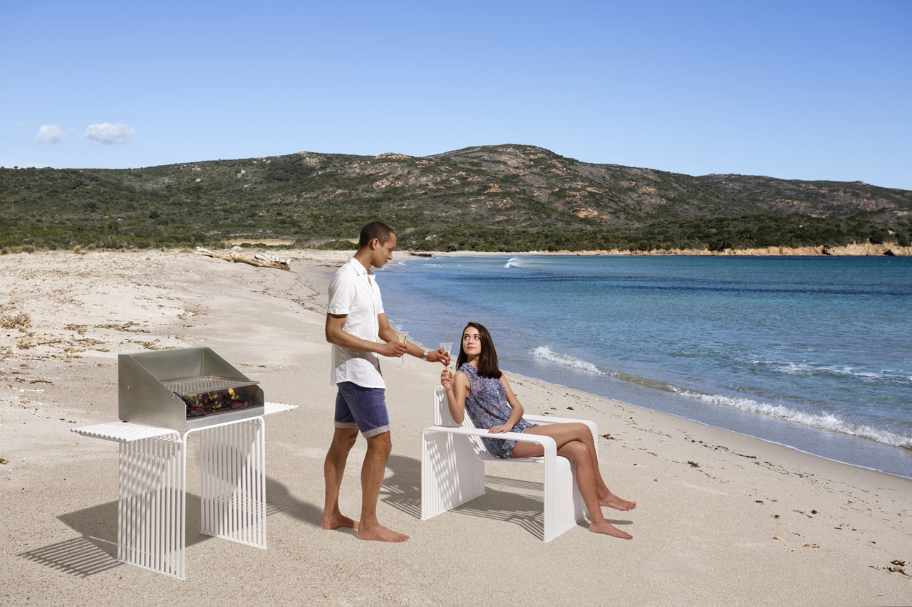 Galvanized Steel Furniture for Urban Outdoor Environments