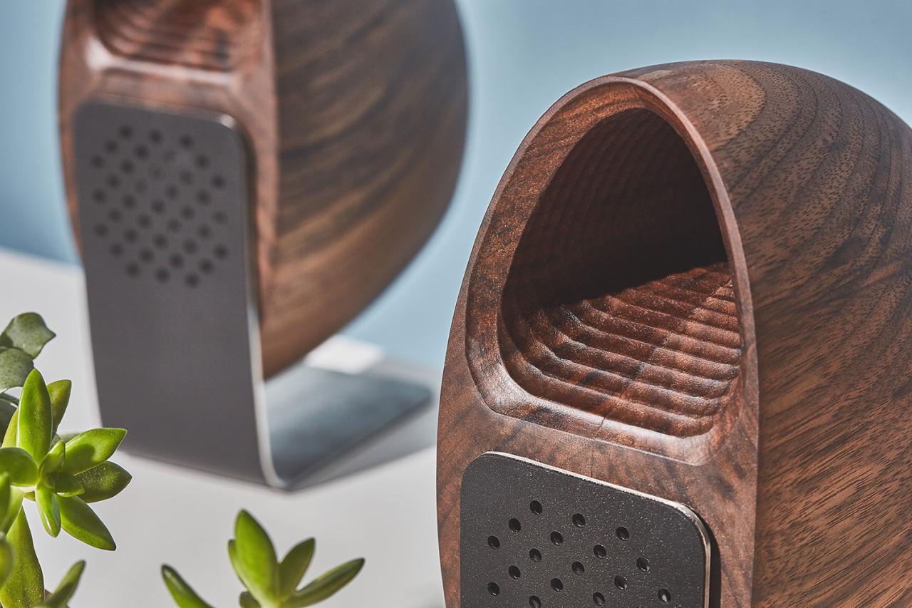 grovemade and joey roth wood speakers - design milk