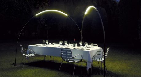 Halley Produces an Arc of Light for Outdoors
