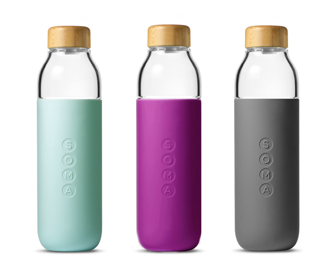 soma launches a glass water bottle design milk. Black Bedroom Furniture Sets. Home Design Ideas