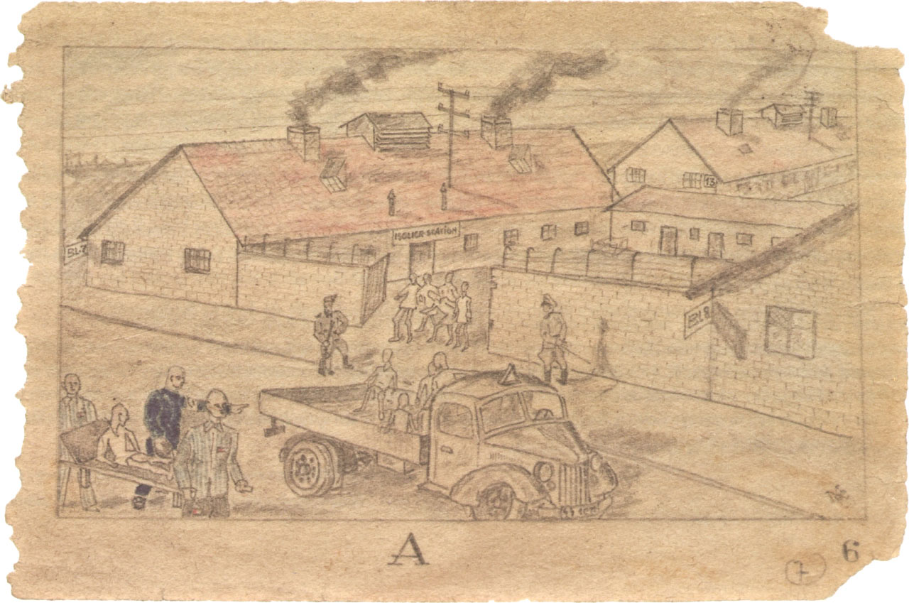 The Sketchbook from Auschwitz, ca. 1943 by MM (initials attributed to unknown artist)