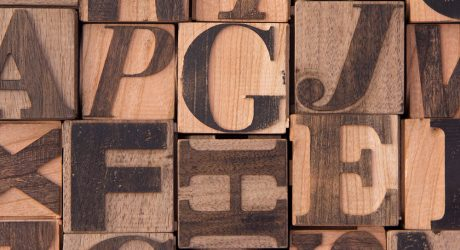 Wooden Blocks That Introduce Children to Typography