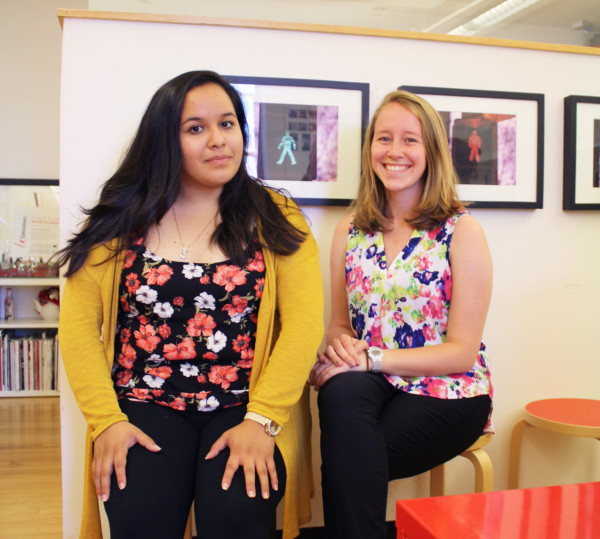 Fellows Karina Campos and Sarah Ahart