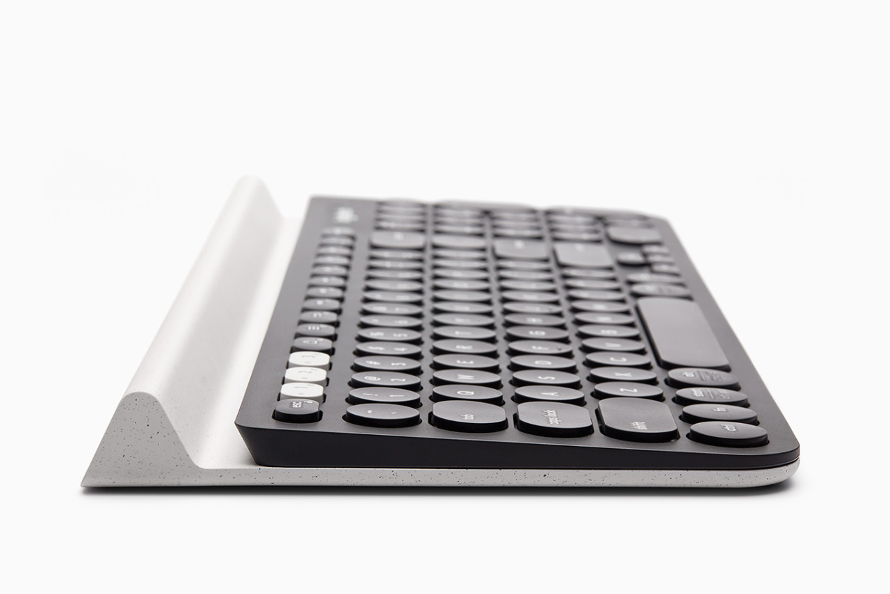 "The Logitech K780 Keyboard by Feiz Design Studio ""Cradles"" Devices"