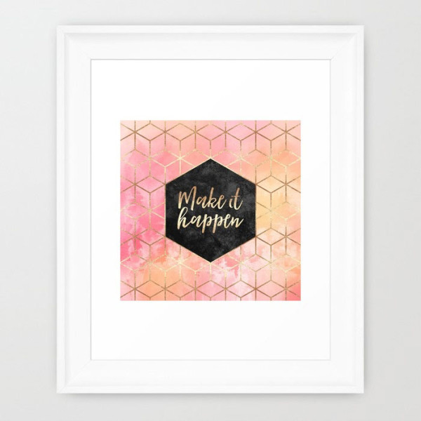 make-it-happen-framed-print