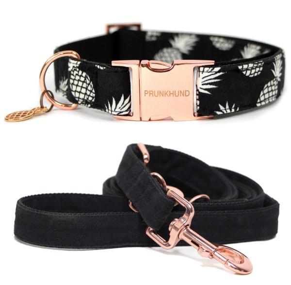prunkhund_resort_rose_gold_pineapple_dog_collar