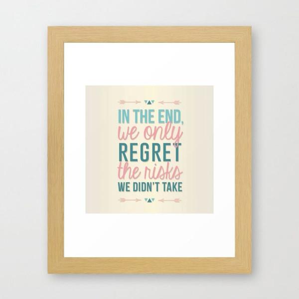 risks-quote-framed-print
