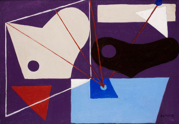 Purple Abstraction, 1939, oil on canvas