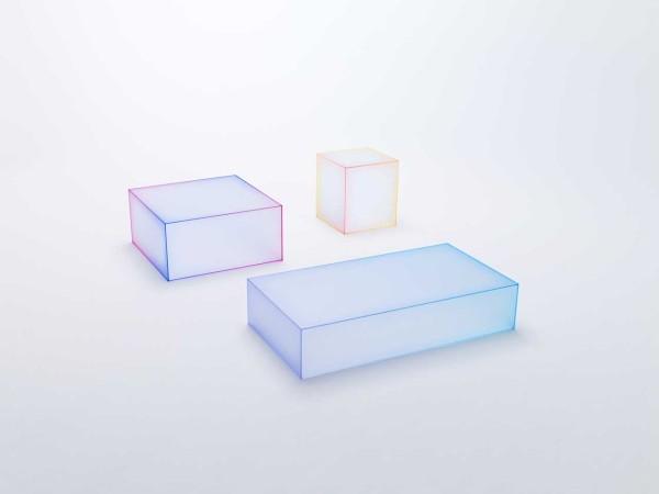 Soft Tables by nendo for Glas Italia \\\ Photo by Kenichi Sonehara