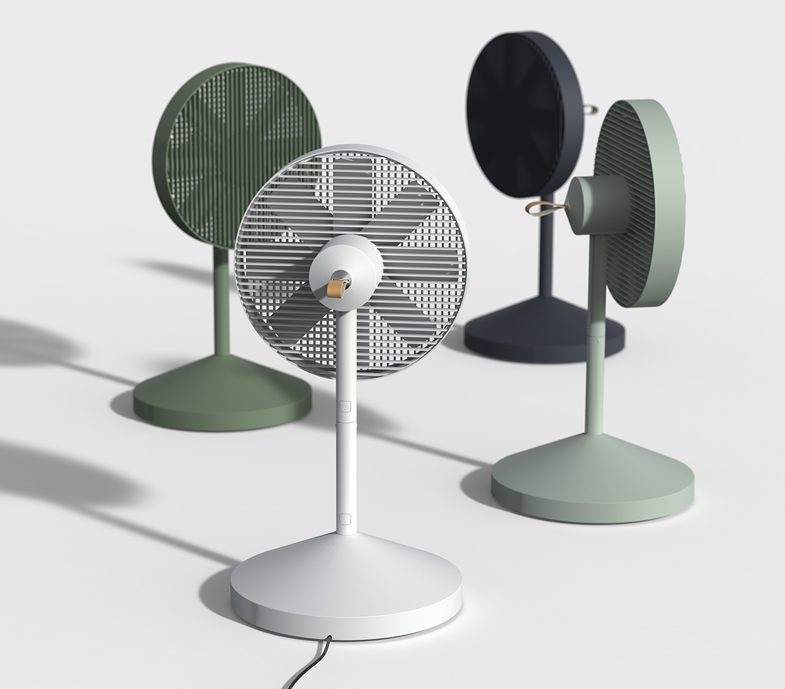 Blow Away, Stow Away: Conbox Electric Fan by JiyounKim Studio