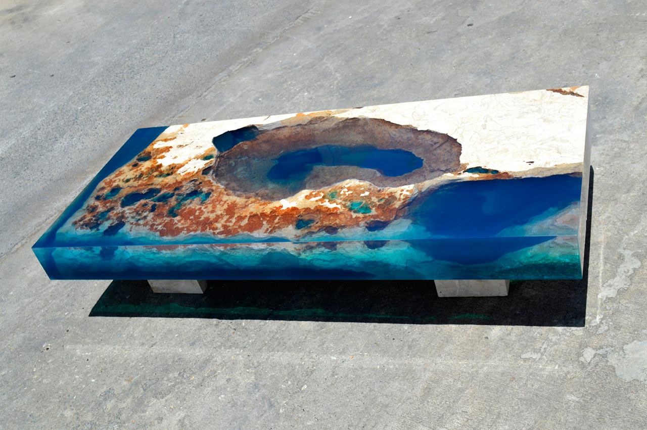 Natural Stone Resin La Table Design Milk