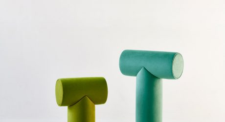 A Minimalist Stool Inspired by Fonts