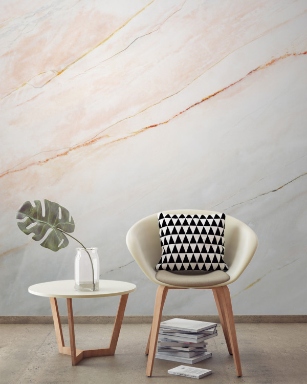 Murals Wallpaper Marble 6 Blush Pink Fade