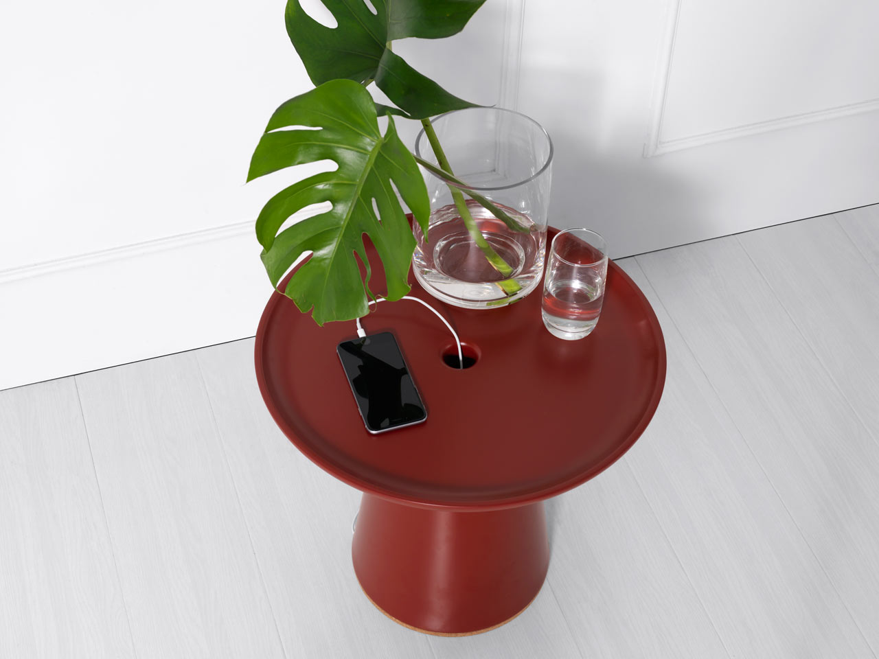 A Side Table That Hides Messy Cables