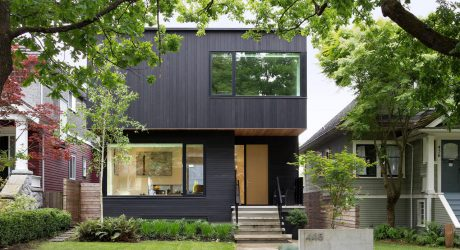 A Modern Vancouver House Clad in Black Cedar
