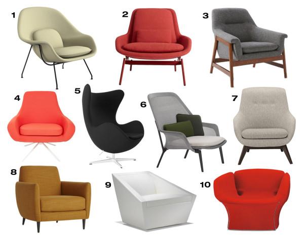 10 Cozy Modern Armchairs
