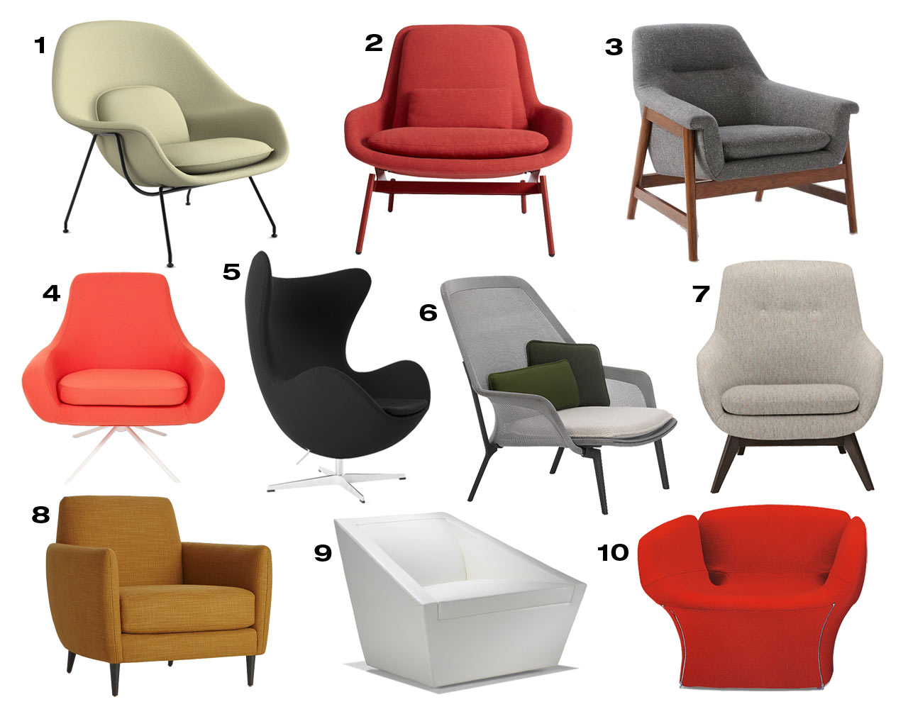Marvelous 10 Cozy Modern Armchairs