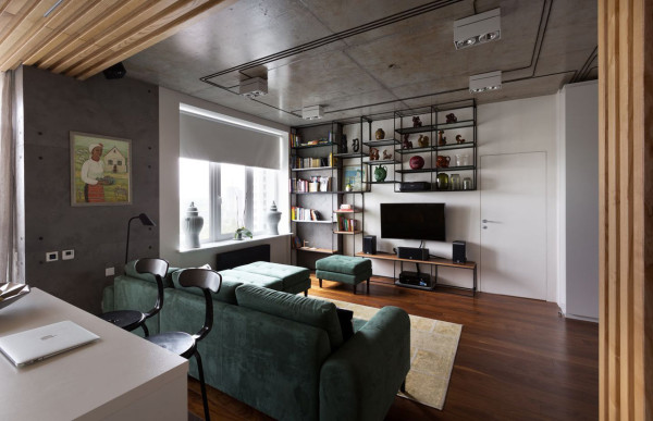 A Modern Ukrainian Apartment with Industrial Details