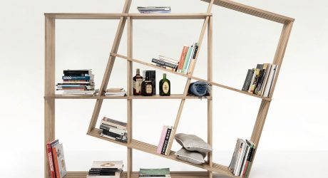 A Fold-Up Bookshelf You Can Reconfigure
