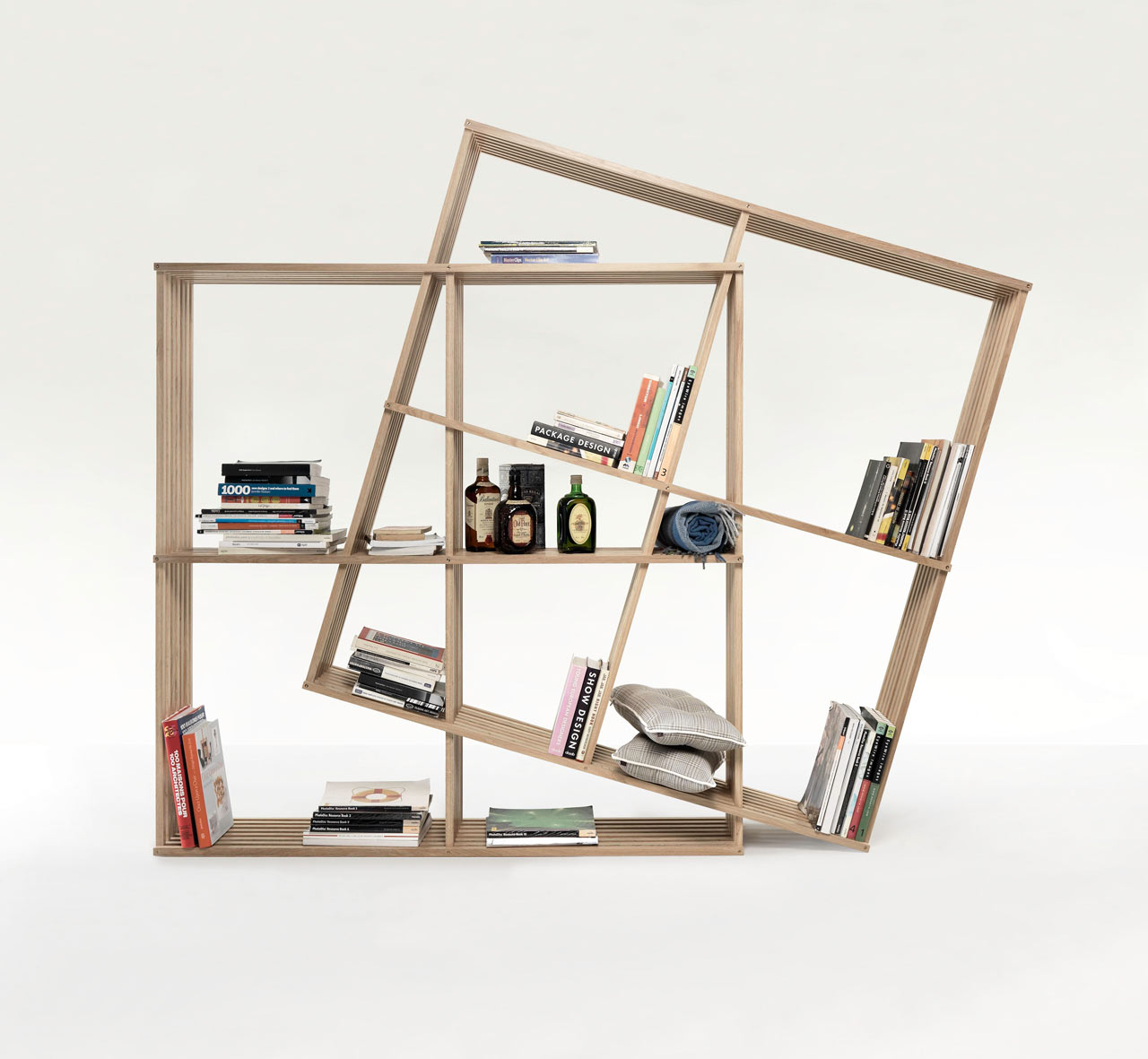 A Fold Up Bookshelf You Can Reconfigure Design Milk