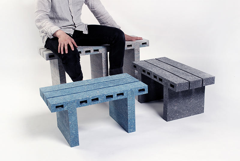 bricks furniture. Recycled Newspapers Turned Into Furniture Bricks O