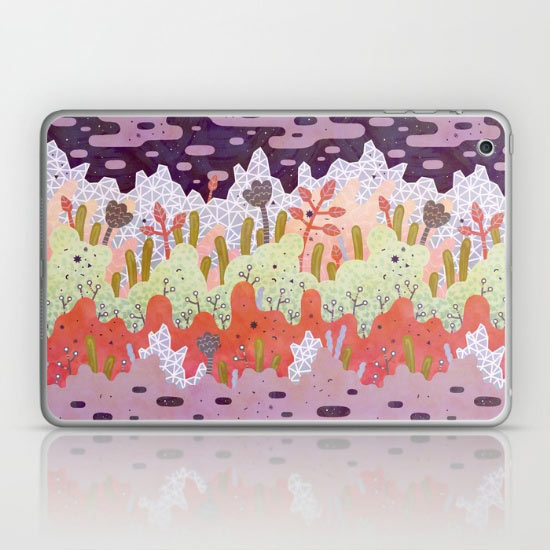crystal-forest-ipad-laptop-skin